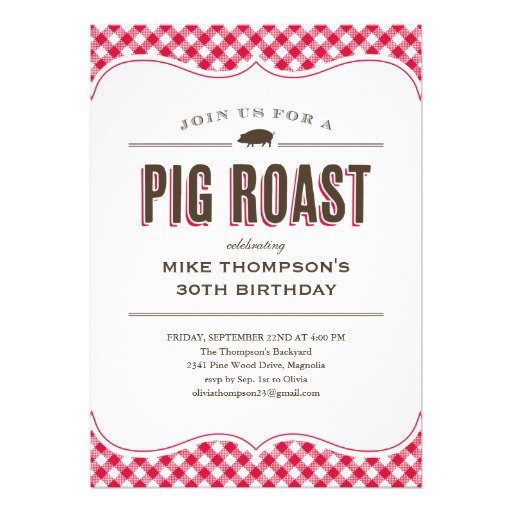 Funny Pig Roast Invitations