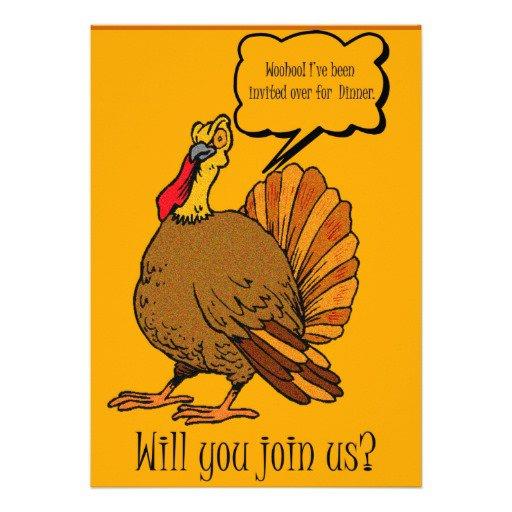 Funny Thanksgiving Dinner Invitations