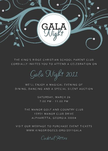 Gala Invitation Samples