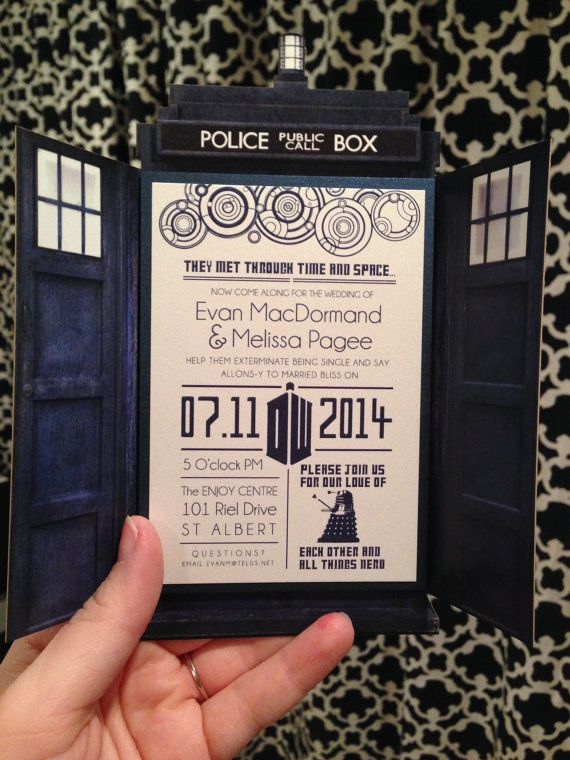 Gallifreyan Wedding Invitations