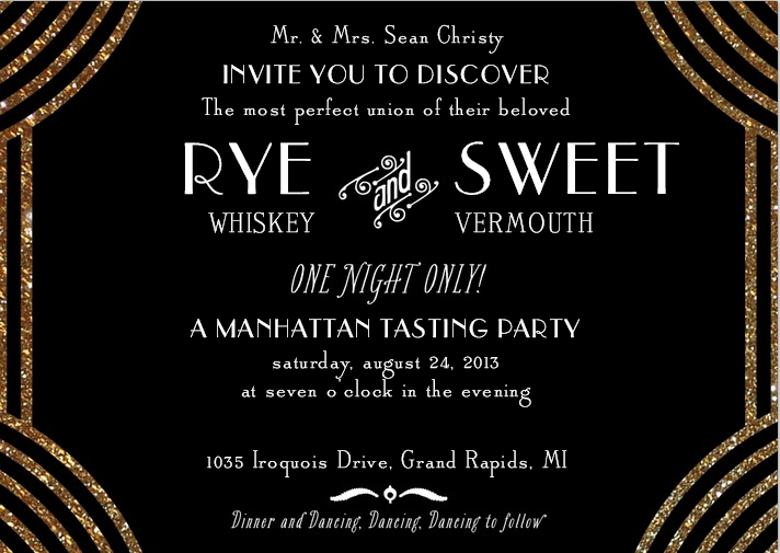 Great Gatsby Invitation Template. gold and brown bordered great ...