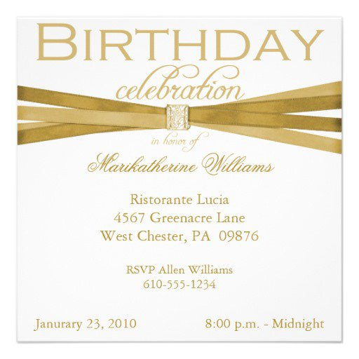 Generic Birthday Invitations