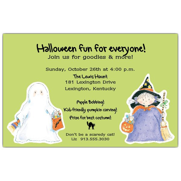Ghost Invitations Blank