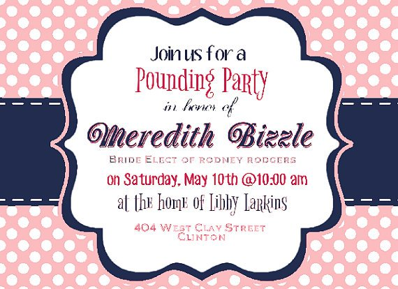 Gift Card Party Invitation Wording