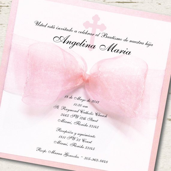 Girl Baptism Invitations In Spanish