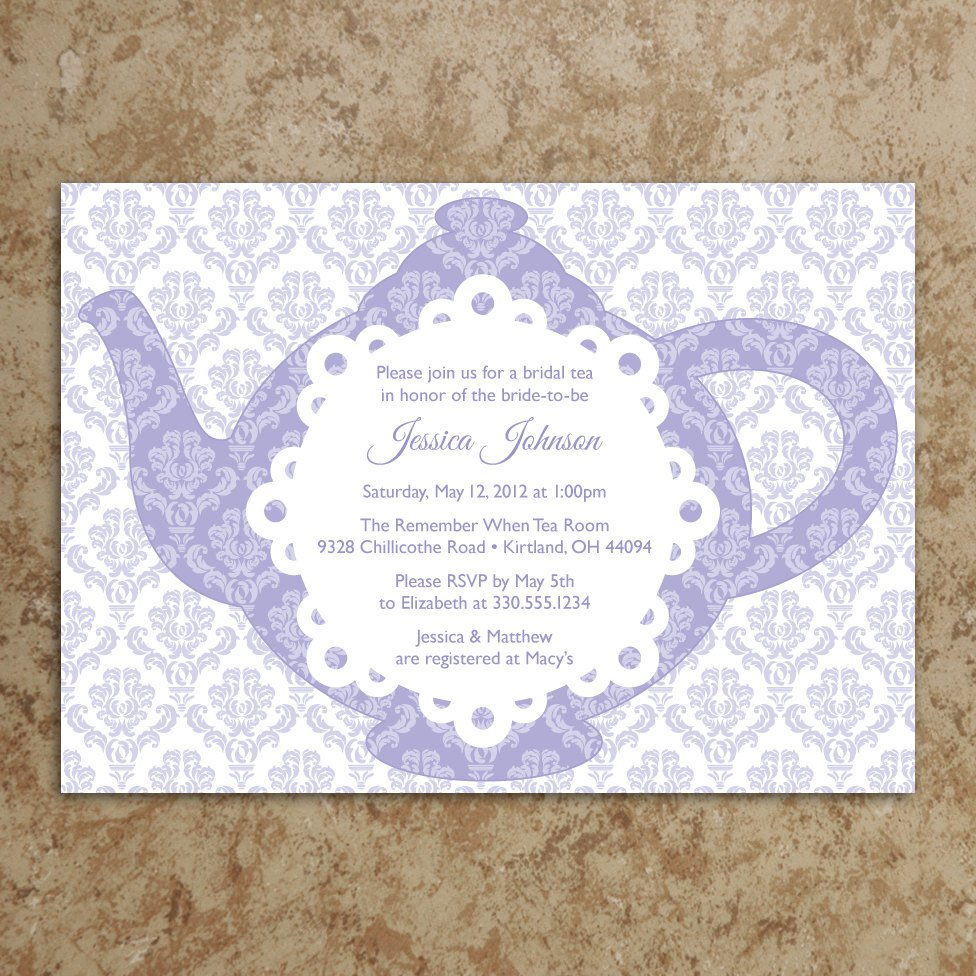 Girl Tea Party Invitation Wordings