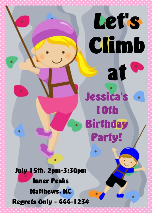 Girls Rock Printable Party Invitations