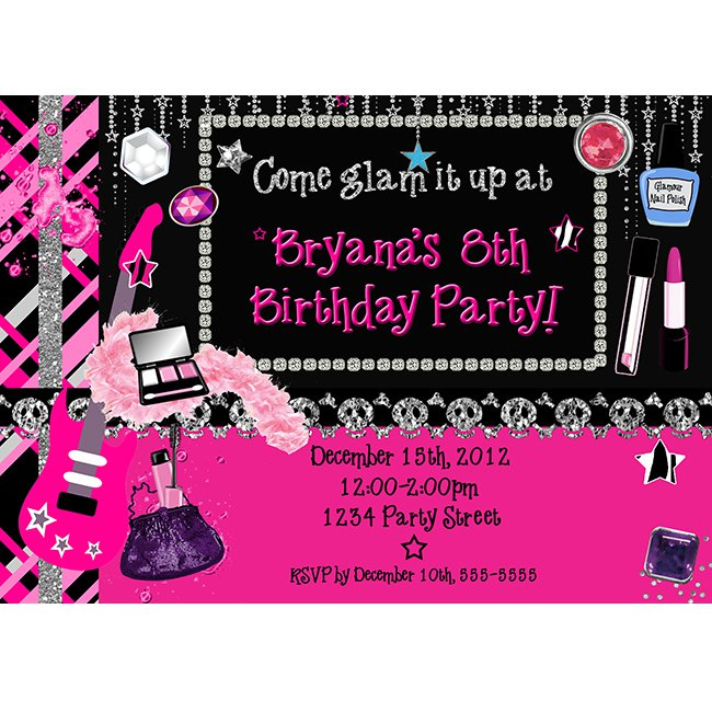 Girls Rock Star Party Invitations