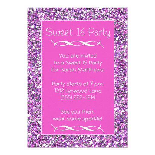 Glitter Sparkle Invitations
