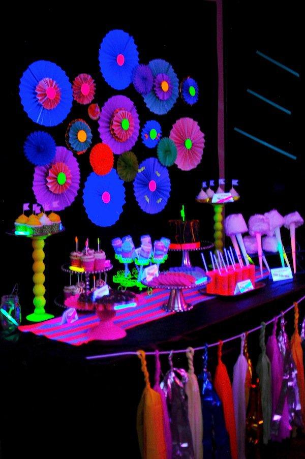 Glow Party Invitation Ideas