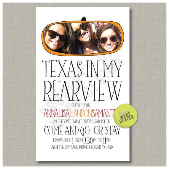 Going Away To College Party Invitations