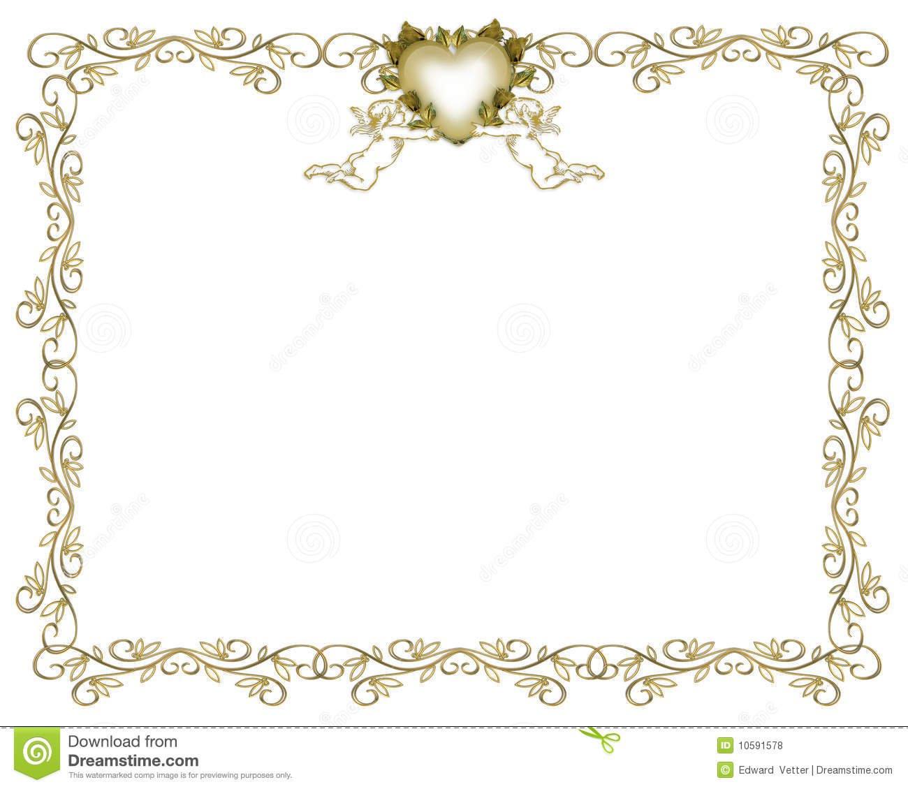 Gold Filigree Wedding Invitation