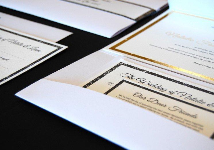 Gold Foil Invitations Australia