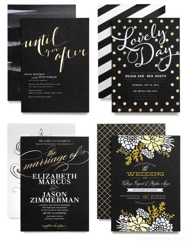 Gold Foil Invitations Diy