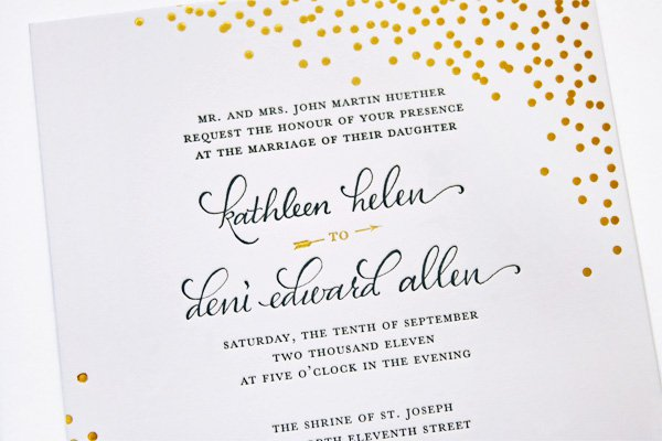 Gold Foil Wedding Invitations Diy