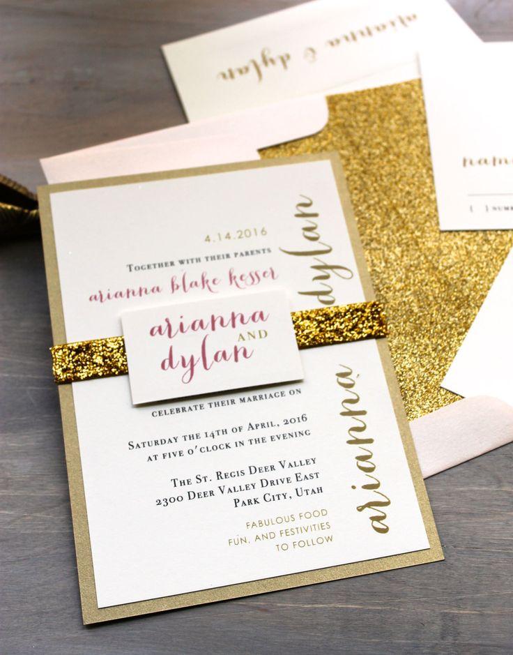 Gold Sparkle Invitations