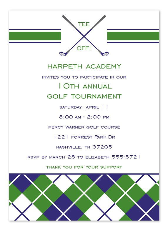Golf Tournament Invitation Template Free