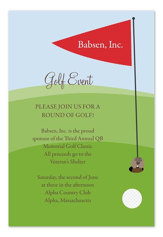Golf Tournament Invitation Template Free