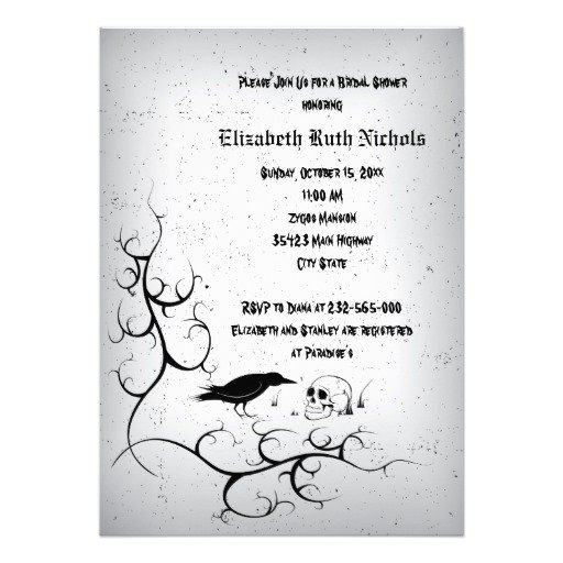 Gothic wedding invitation templates for Free printable gothic wedding invitations