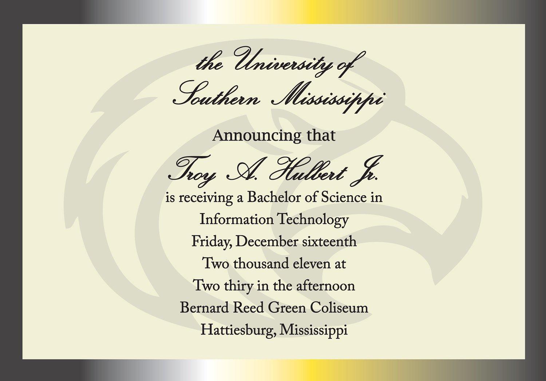 Graduation Announcement Invitation Templates