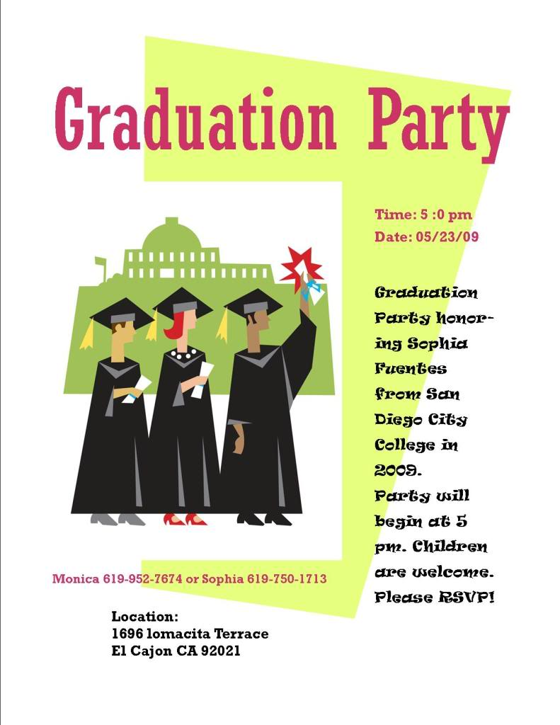 Graduation Flyer Invitations