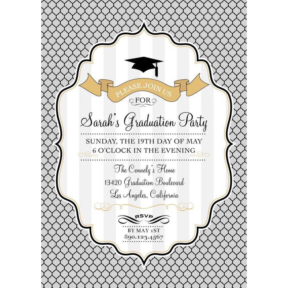 Graduation Invitation Backgrounds Free