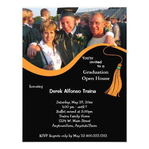 Graduation Open House Invitation Wording Ideas