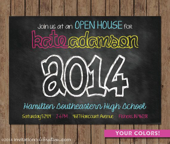 Graduation Open House Invitations Printable
