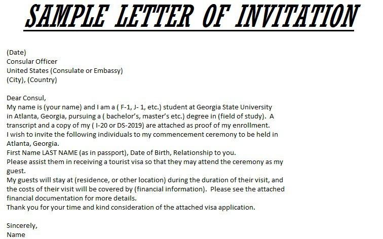 Graduation Party Invitation Letter Sample