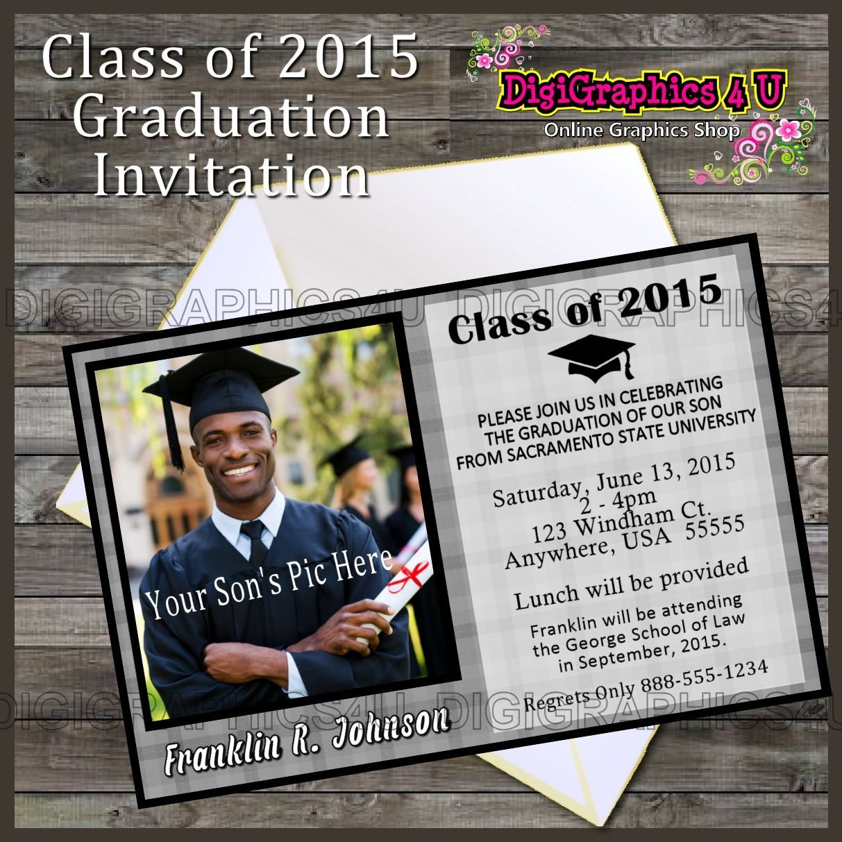 Graduation Party Invitations Editables