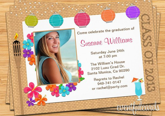 Graduation Party Invitations To Print At Home