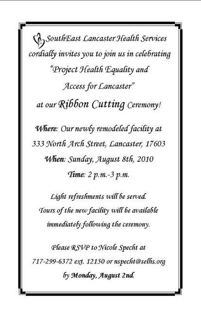 Grand Opening Ceremony Invitation Card
