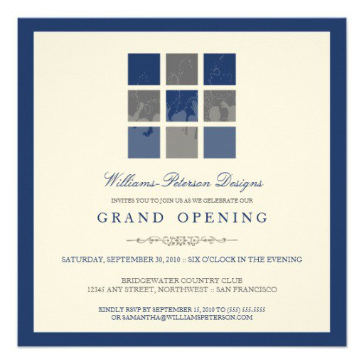 Grand Opening Ceremony Invitation