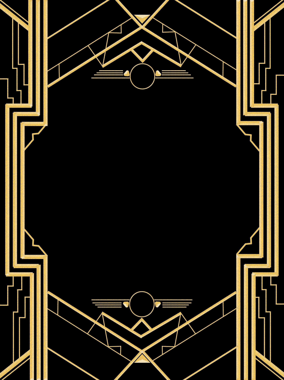 Great Gatsby Invitation Templates Blank