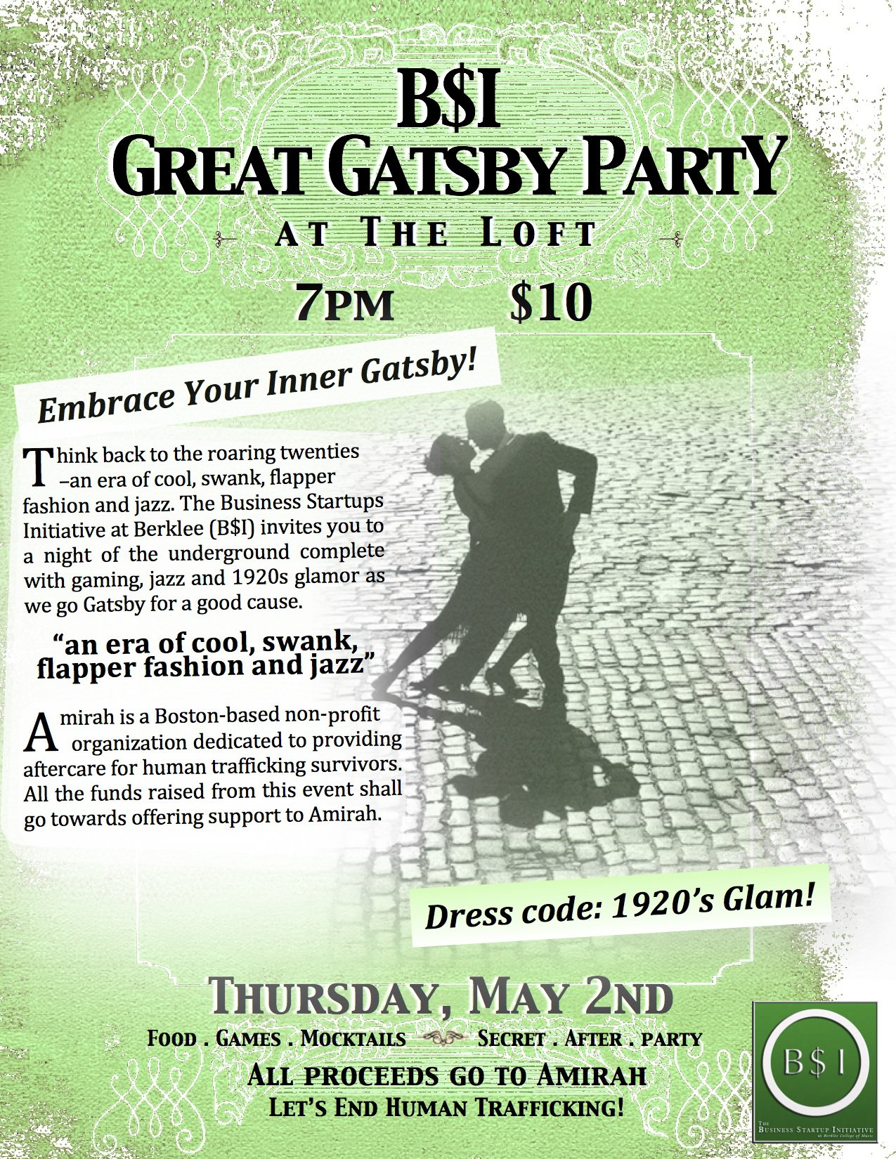 Great Gatsby Prom Theme Invitations