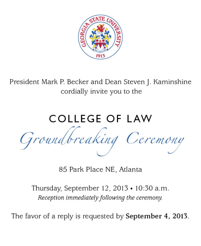 Groundbreaking Ceremony Invitations