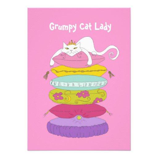 Grumpy Cat Birthday Party Invitations