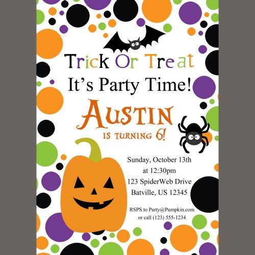 Halloween Birthday Invitations For Girls