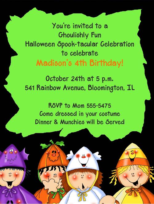 Halloween Costume Party Invitation Wording – Halloween Party Invitation Poems