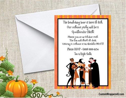 Halloween Costume Invitation Wording