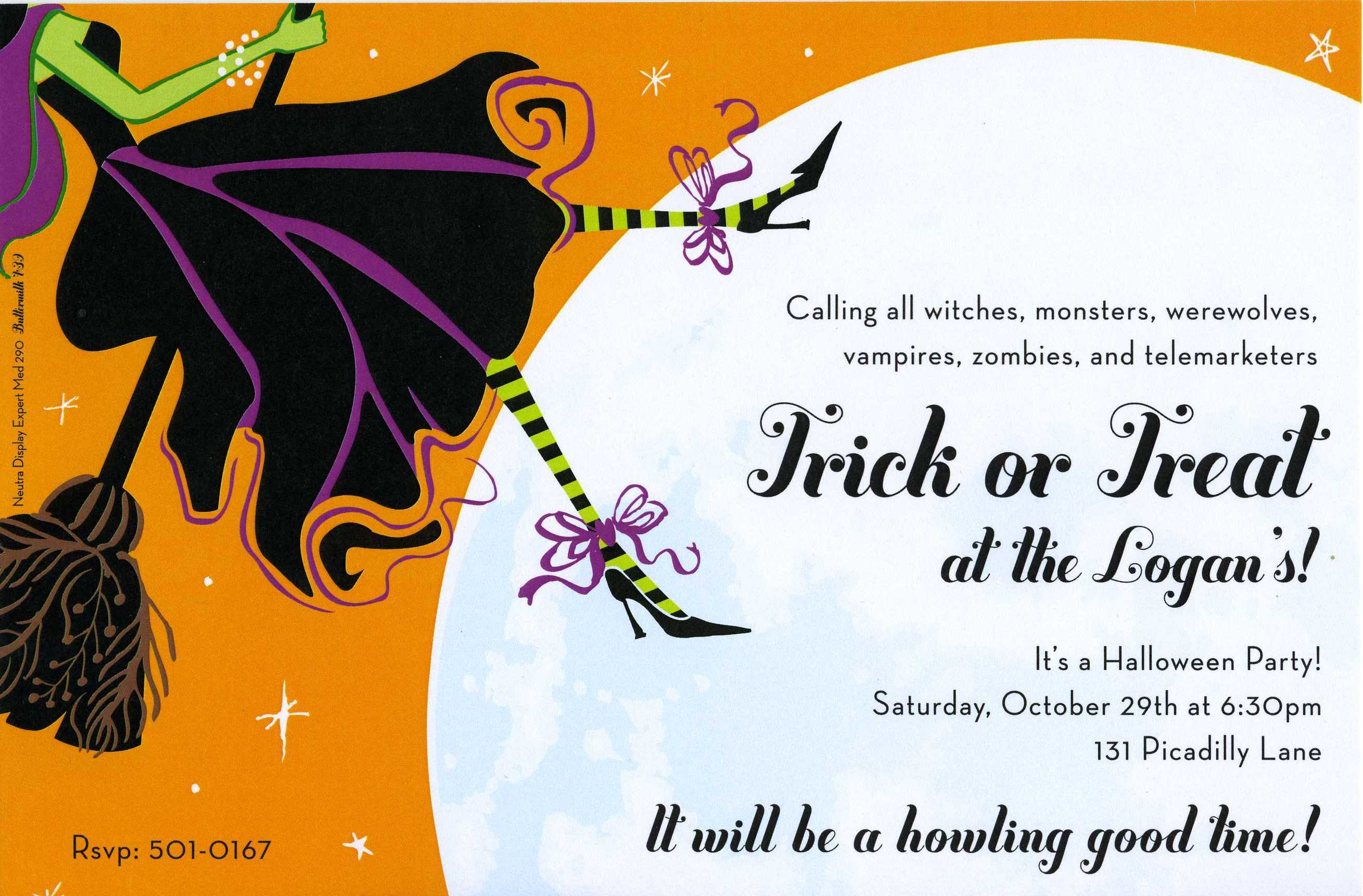 Halloween Invitation Clever Wording