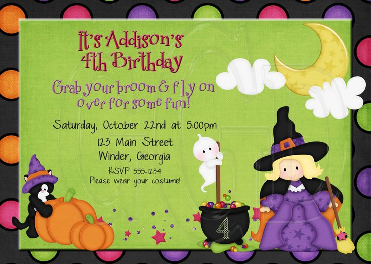Halloween Invitation Costume Party Ideas