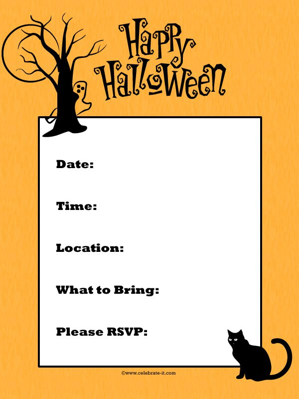 Halloween Invitation Ideas Free
