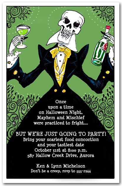 Halloween Invitation Sayings Ideas