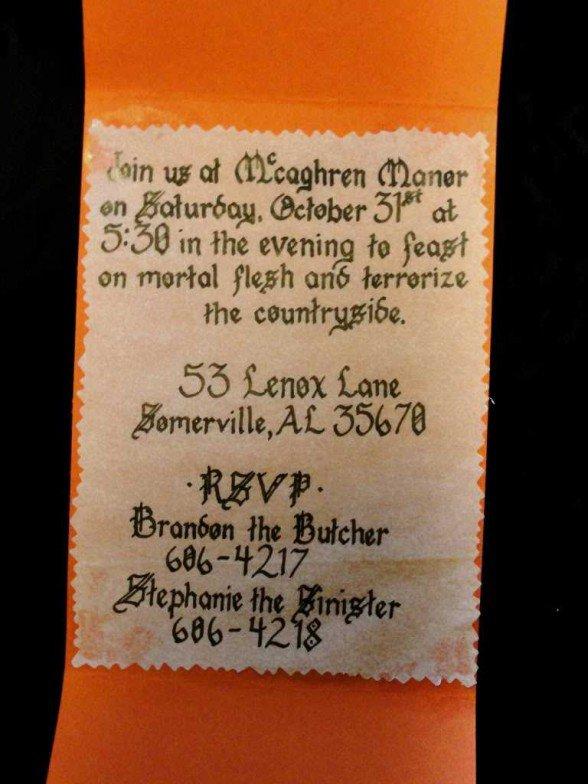 Halloween Invitation Wording Ideas Adults