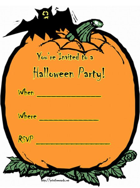 Halloween Party Invitation Backgrounds Free