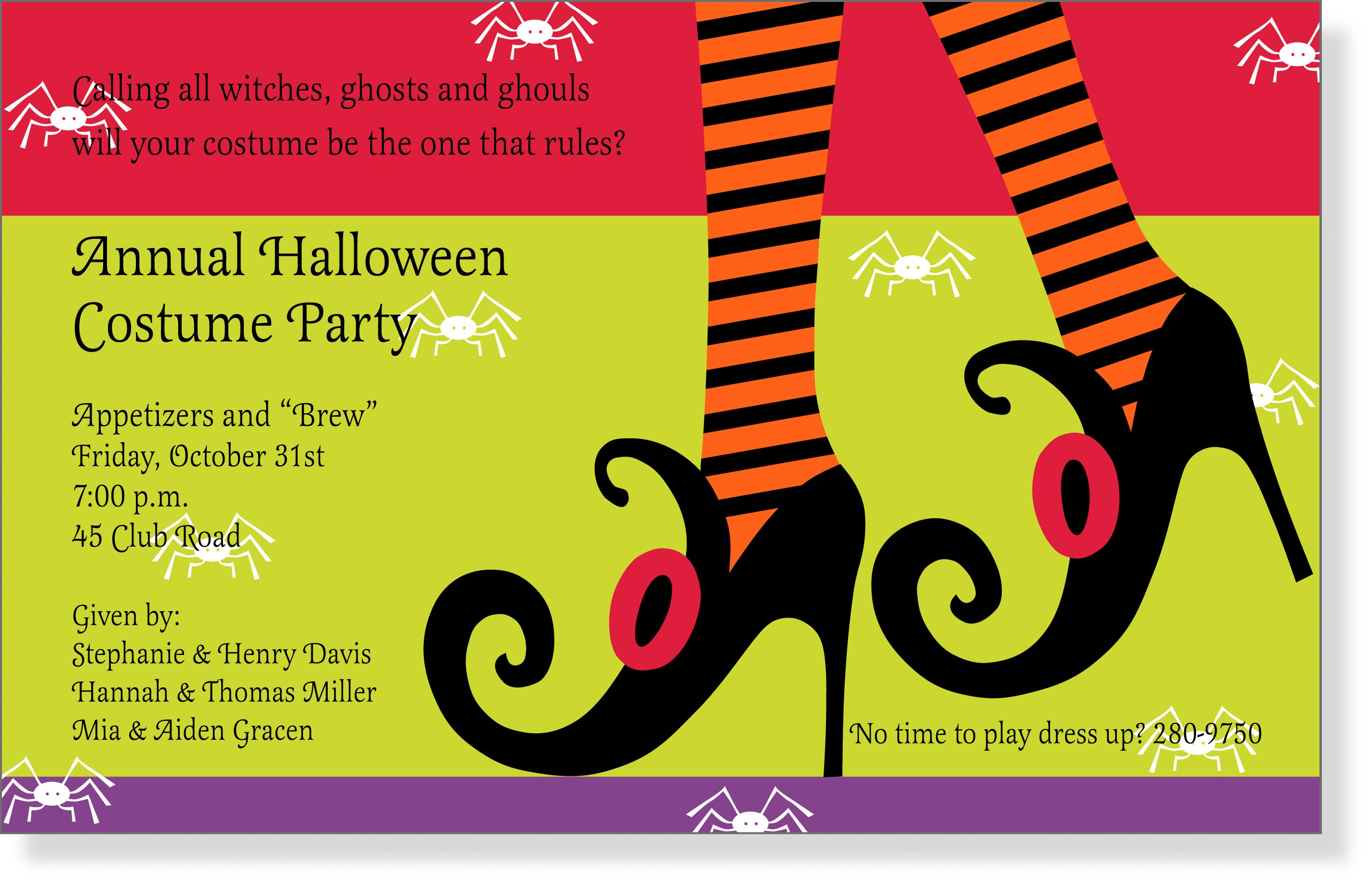 Halloween Party Invitation Sayings