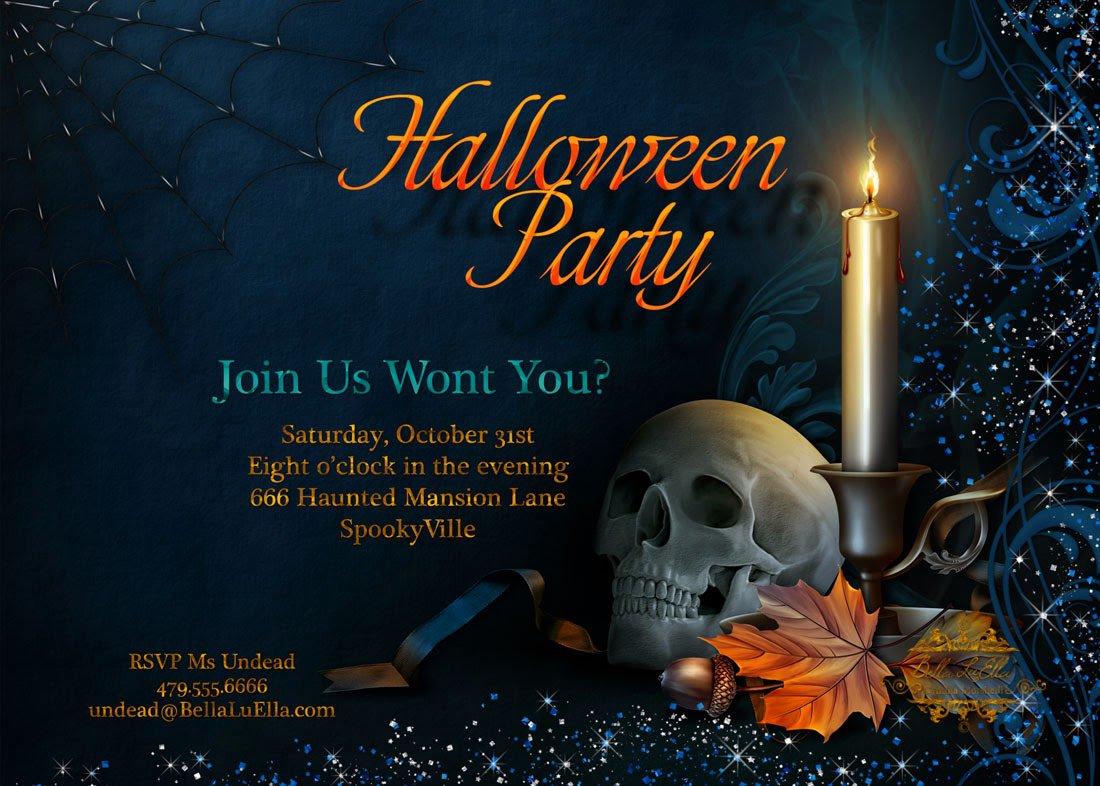 Halloween Party Invitations Etsy
