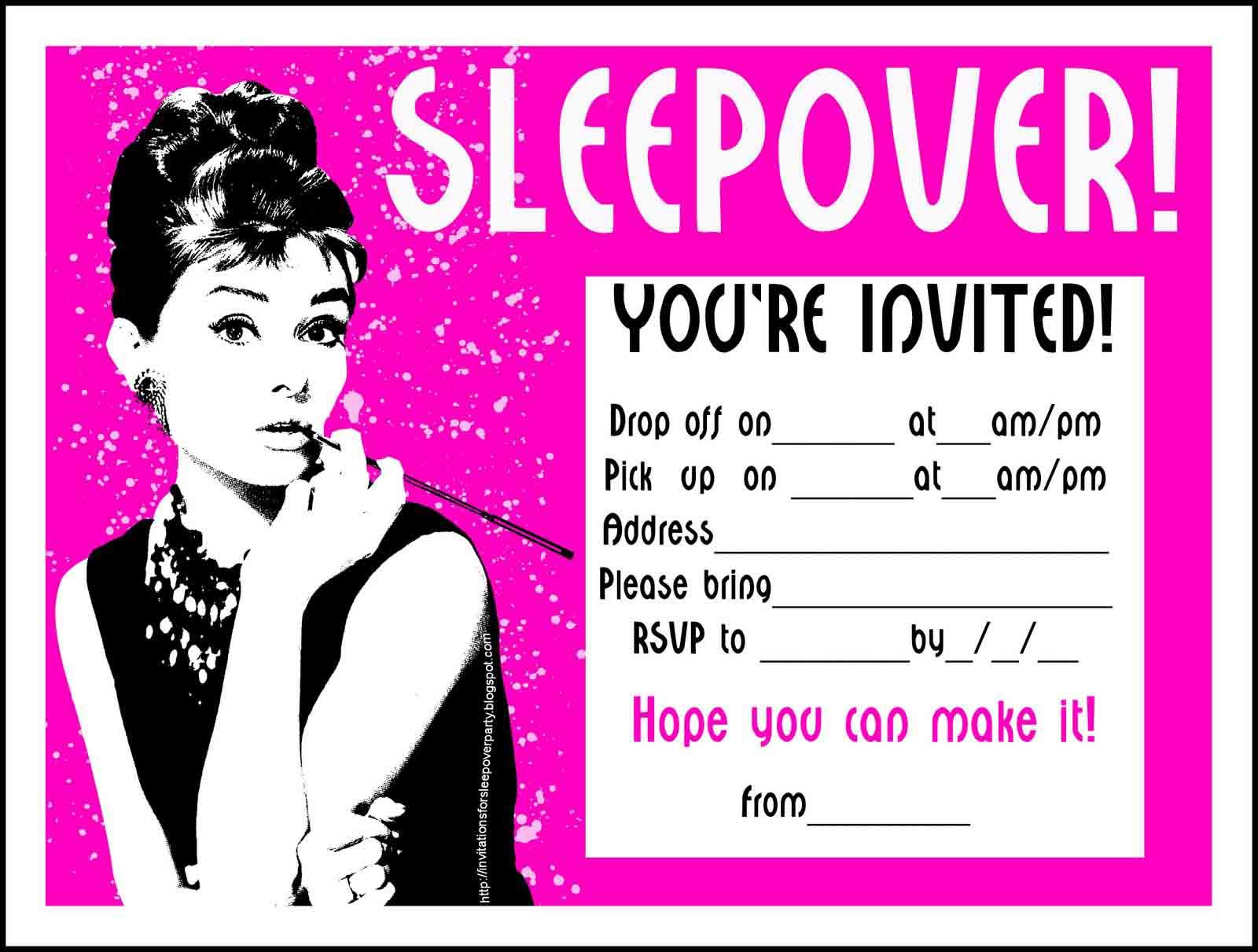 Halloween Sleep Over Invitation Wording