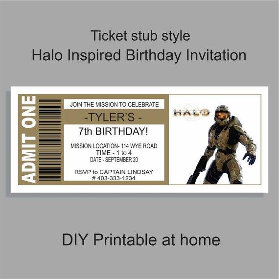 Halo Reach Invitations